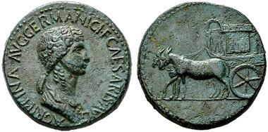 528: Römische Kaiserzeit. Agrippina Minor unter Claudius. Sesterz, 50-54. RIC 103 (R3). f. vzgl. Rufpreis: 4.000 Euro.