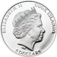 Cook Islands / 5 Dollar / Silber .925 / 20 g / 38,61 mm / Auflage: 2.500.