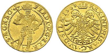 3581: Ferdinand I. Dukat, 1563, Breslau. Halacka 149. vzgl. Rufpreis: 25.000 Euro.