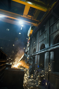 A view inside the foundry. Photograph: Schuler AG.