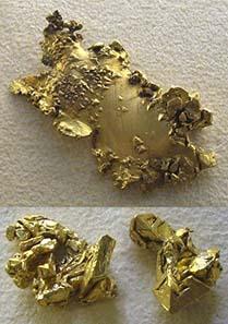 Goldnuggets aus Australien. Foto: Wikipedia.