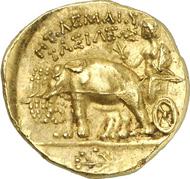 678: Griechen. Ptolemaios I., 323-305-283, König von Ägypten. Stater, nach 300, Euhesperides. Naville 239. Aus Auktion Auctiones AG 20 (1990), 519. Sehr selten. Vorzüglich. Taxe: 25.000 Euro.