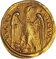 Vorbote der Renaissance: Heiliges Römisches Reich, Friedrich II. von Hohenstaufen (1220-1250), 1/2 Augustalis, ca.1231, Brindisi. (Sammlung MoneyMuseum)