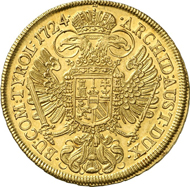 5673: RDR. Karl VI., 1711-1740. 10 Dukaten 1724, Wien. Unikum. Vorzüglich. Taxe: 150.000 Euro.