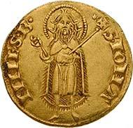 In ganz Europa kopiert: Heiliges Römisches Reich, Republik Florenz, Fiorino d'oro, 1252-1303. (Sammlung MoneyMuseum)