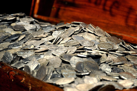 The Whydah is full of coins. Photo: Theodore Scott / http://creativecommons.org/licenses/by/2.0/deed.en