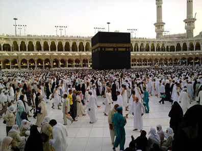 Day or night, Mecca's Masjid al-Haram, and more specifically the courtyard surrounding the Kaaba, is never quiet. Photo: omar_chatriwala / http://creativecommons.org/licenses/by/2.0/deed.de