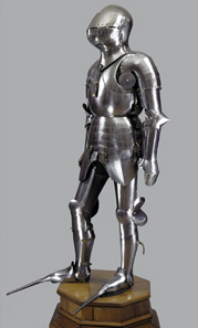 Harnisch Friedrichs des Siegreichen Wien, Kunsthistorisches Museum, Hofjagd- und Rüstkammer. Tomaso Missaglia und Werkstatt Mailand, um 1450. © Kunsthistorisches Museum, Wien.