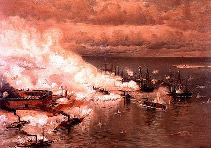 Battle of Mobile Bay, by Louis Prang, c. 1884. Source: Wikipedia.