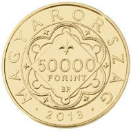 Hungary / 50,000 HUF / Au .986 / 20 mm / 3.491 g / Design: E. Tamas Soltra / Mintage: 3,000.