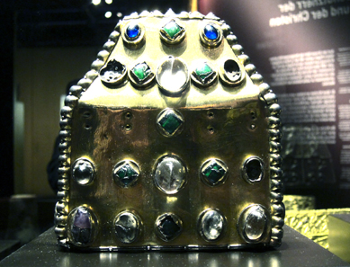 Reliquary from the Abbey of St Maurice. Treasury of the Abbey of St Maurice d'Agaune. Photo: UK.