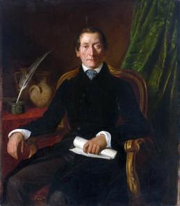 Carl Rahl (1812-1865), Porträt August Kestners, etwa 1842. © Landeshauptstadt Hannover Museum August Kestner. Fotos: Christian Tepper.