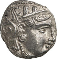 ATHENS. Tetradrachm, 337-294. Weight: 17.09 g. Dewing Coll. 1634. From auction sale Gorny & Mosch, München 165 (2008), 1260.