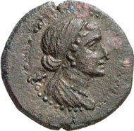 CYPRUS. Cleopatra VII, 50-31. AE, 36/5, Orthosia. RPC 4501. From auction sale Künker, Osnabrück 133 (2007), 8276.