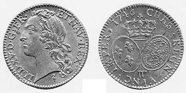 Louis d'or. Lille 1746. Aus Auktion Bourgey, Paris 13. Juni 2005, 162.