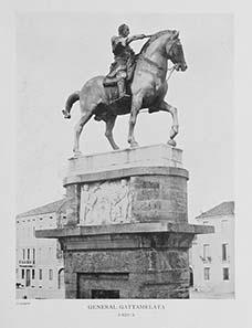 Der Condottiere Gattamelata, das von Donatello geschaffene, erste lebensgroße Reiterstandbild der Neuzeit.