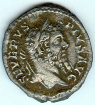 Coin of emperor Septimus Severus, denarius from 206 CE. Photo: Thorsten Schwarz, Ldkr. Northeim/NLD.