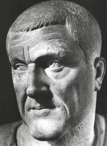 Marble bust of Maximinus Thrax, 235-238 CE. Photo: Roma, Musei Capitolini Palazzo Nuovo.