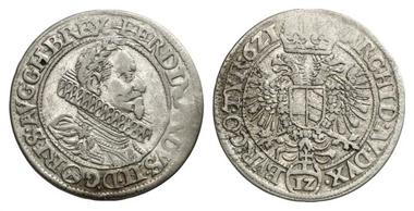 Ferdinand II. Kipper-12 Kreuzer 1621, Wien. Aus Auktion Künker 175 (2010), 3211.