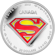 $20 fine silver coin: The shield.