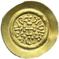 271: Migration Period. Lombards. Desiderius, 757-773. Tremissis Castelseprio, 757-773. MIR 128. Very rare. Extremely fine. Estimate: 7,500 euros.