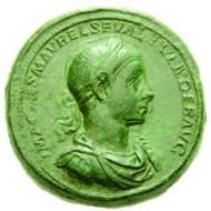 63: Severus Alexander, 222-235. Medaillon. Fast vorzüglich. Ausruf: 25.000 CHF.