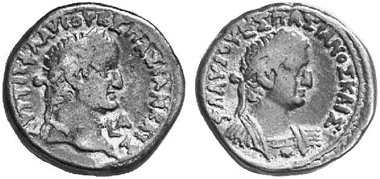 Vespasian, 69-79. Tetradrachm, 69. Rev. bust of Titus r. From auction sale 89 (2004), 1763.