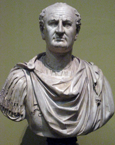 Bust of Vespasian. Plaster cast at the Pushkin Museum, St. Petersburg, after an original in the Louvre. Photograph: shakko / http://creativecommons.org/licenses/by-sa/3.0/deed.de