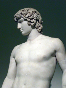 Statue of Antinoos. National Archaeological Museum of Naples. Photograph: UK.