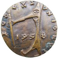 Medaille des Zürcher Künstlermaskenballs 1958.