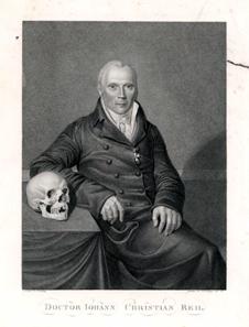 Johann Christian Reil (1759-1813), deutscher Arzt; Stich mit Rotem Adlerorden. H. Dähling (Zeichner), F.W. Bollinger (Stecher), Berlin 1811. Quelle: Wikicommons.