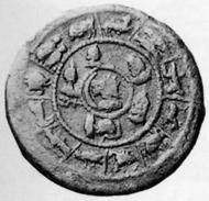Antoninus Pius, 138-161. Tetradrachmon, 144/5. Rv. Sarapisbüste n. l., umgeben von den Büsten der sieben Planetengötter, außen zwölf Tierkreiszeichen. CNG 13 (1990), 158.