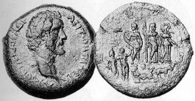 Antoninus Pius, 138-161. Tetradrachm, 144/5. Rev. Judgement of Paris. CNG 13 (1990), 220.