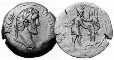 Antoninus Pius, 138-161. Tetradrachmon, 141/2. Rv. Schnitter. CNG 13 (1990), 221.