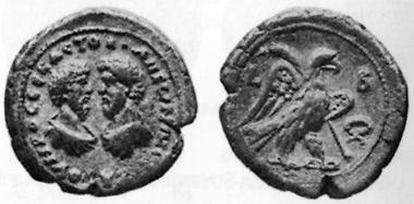 Marcus Aurelius, 161-180. Tetradrachm, 161/2. The busts of Marcus Aurelius and Lucius Verus opposing. Rev. eagle with palm branch, walking r. Auctiones 7 (1977), 454.