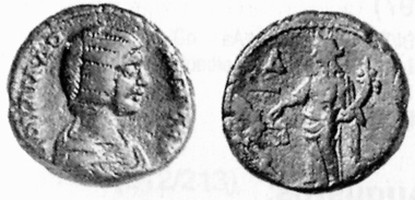 Julia Domna, + 217. Tetradrachm, 195/6. Rev. Dikaiosyne standing l. Heidelberger Münzhandlung 20/I (1997), 420. The coins of Septimius Severus and his family range amongst the great rarities of Alexandrinian coinage.