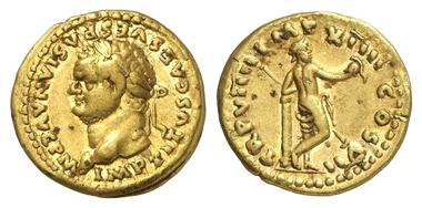 187: Titus, 79-81. Aureus. RIC 15. Kleiner Randfehler. Vorzüglich. Schätzung: 5.500 Euro.