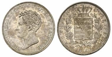 2946: Sachsen-Coburg-Gotha. Ernst I., 1826-1844. Konventionstaler 1828. Nur 31 Exemplare geprägt! Fast Stempelglanz. Schätzung: 35.000 Euro.