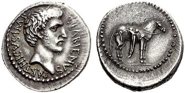 Lot 258: Roman Republic. Quintus Labienus Parthicus. Denarius. Estimate CHF 90,000.