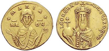 Lot 734: Byzantine Empire. Leo VI the Wise. Solidus. Estimate CHF 20,000.