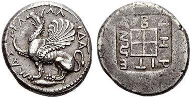 Lot 283: NORTHERN GREECE, THRACE, ABDERA. Tetradrachm c. 473/70-449/8 BC, AR.