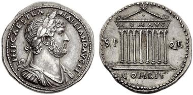 Lot 307: THE ROMAN EMPIRE, HADRIAN, August 11, 117-July 10, 138. Cistophorus, Nicomedia in Bithynia c. 136, AR.