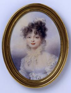 Großfürstin Katharina Pawlowna (1788-1819), spätere Königin Katharina von Württemberg Aquarell auf Elfenbein, Wien, 1815. © H. Zwietasch, Landesmuseum Württemberg, Stuttgart.