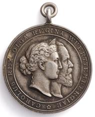 Karl-Olga-Medaille für Werke der Nächstenliebe. MK 2260.