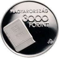 Hungary / 3,000 HUF / Ag .925 / 12.5 g / 30 mm / Designer: Géza Kertész / Mintage: 2,000 (BU), 3,000 (PP).