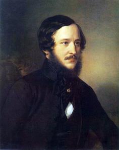 Portrait of József Eötvös by Miklós Barabás, 1845. Source: Wikipedia.