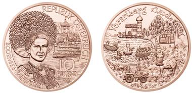 Die Münze erscheint auch in Kupfer als Normalprägung.