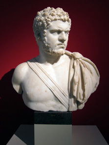 Bust of Caracalla. Pergamon Museum, Berlin. Photograph: UK.