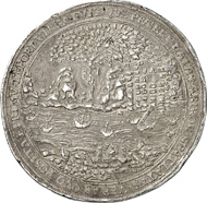 2281: Sweden. Charles IX, (1560-) 1604-1611. 3 riksdaler 1610, Stockholm, on the founding of the city of Gothenburg. Ahlström 73. Extremely fine. Very fine. Estimate: 30,000 euros.