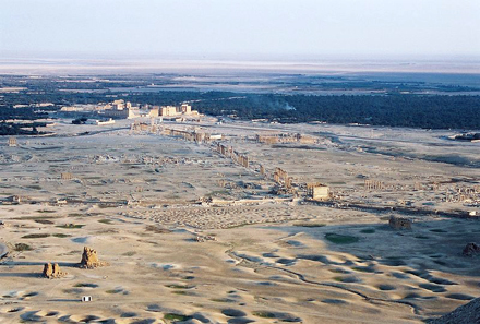 View at the capital of the empire of Palmyra. Photograph: diemert / http://creativecommons.org/licenses/by/1.0/deed.en